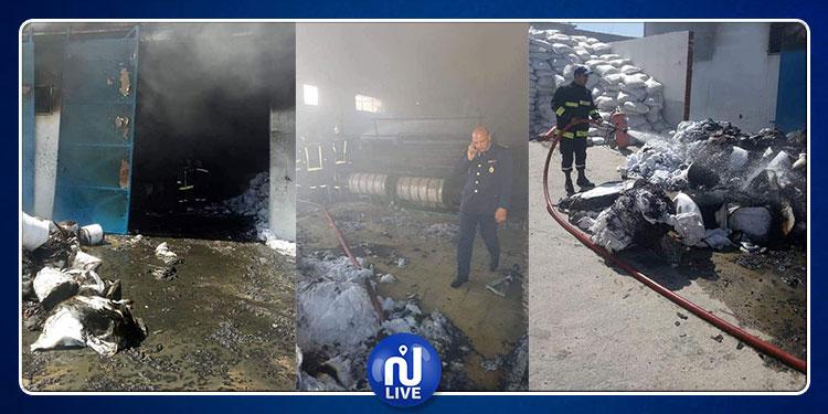 المنستير/المصدور: حريق هائل بمصنع القطن