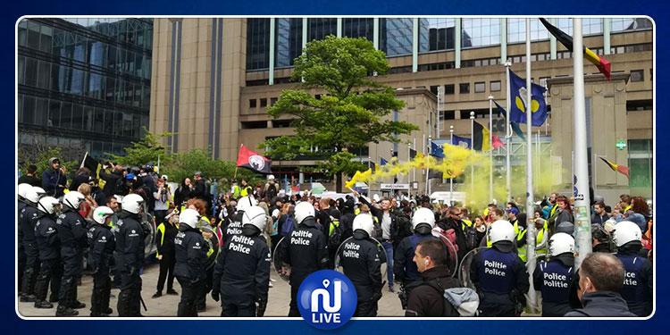 بلجيكا: مواجهات بين محتجي ''السترات الصفراء'' وقوات الأمن