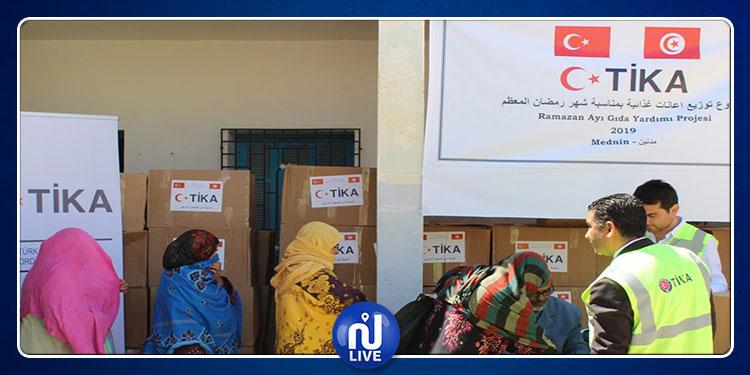 تركيا توزع إعانات على 300 عائلة تونسية
