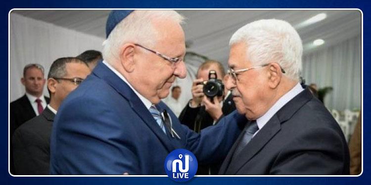 محمود عباس يعزي نظيره الصهيوني بوفاة زوجته