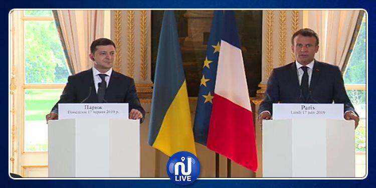 Macron s'entretient avec Zelensky