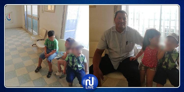 بوحجلة: أستاذ يعتصم رفقة أطفاله تحت مكيف ''الستاغ'' بسبب ضعف الكهرباء في منزله