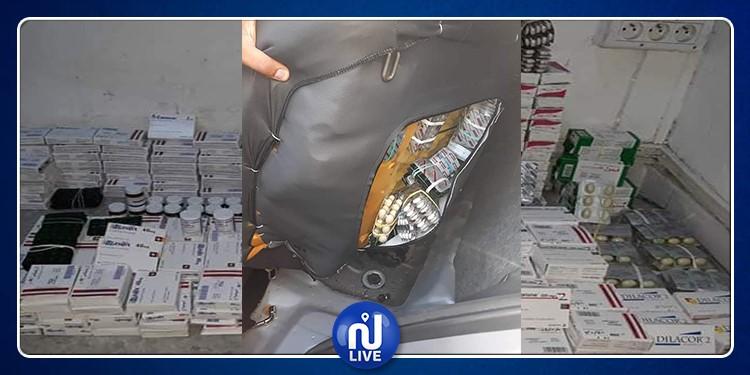 صفاقس: إحباط تهريب أدوية على متن سيارة ليبية (صور)