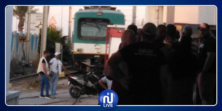 محطة ''TGM'': وفاة شاب بصعقة كهربائية إثر تعمده الصعود فوق قطار الضاحية الشمالية