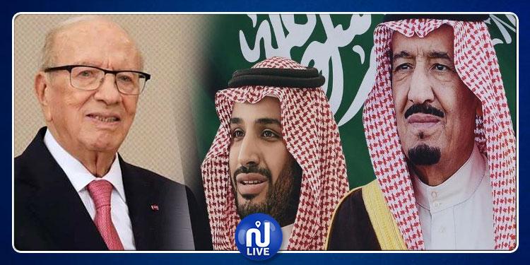برقيتان من الملك السعودي وولي العهد إلى الباجي قايد السبسي