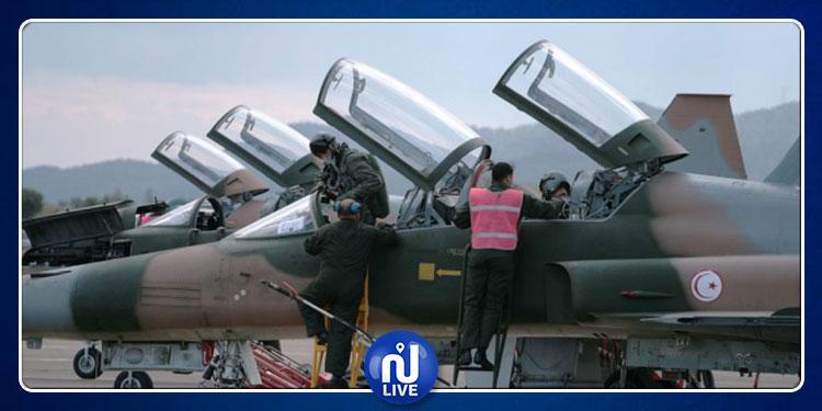 طائرات F5 تشارك في مراسم تشييع جثمان الرئيس الراحل الباجي قايد السبسي