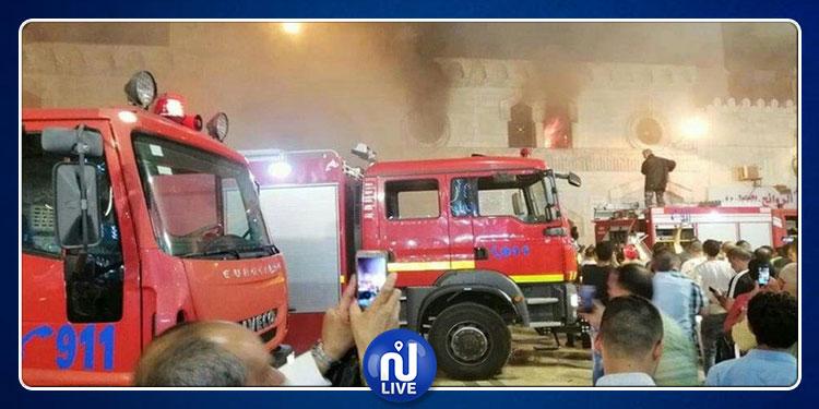 الأردن: إندلاع حريق في المسجد الحسيني التاريخي ( فيديو)