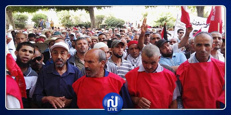 وقفة احتجاجية للجامعة العامة للشؤون الدينية بالقصبة