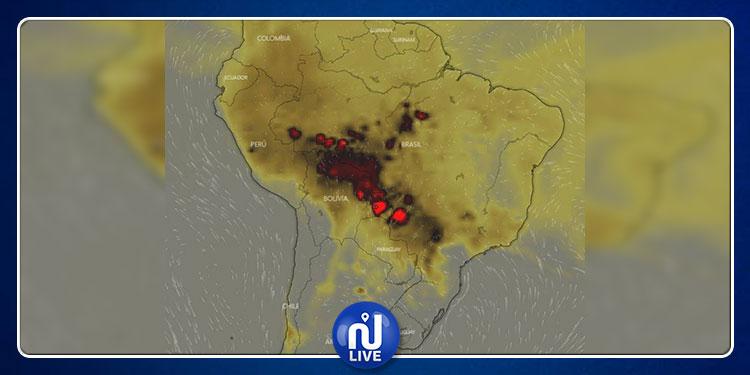 حرائق الأمازون: صور من الفضاء تكشف حجم الكارثة