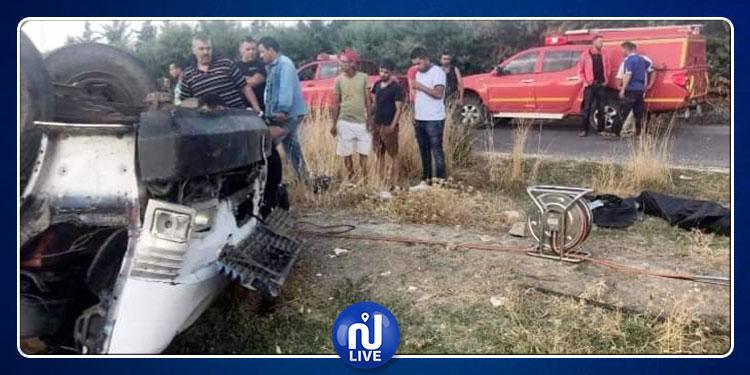 سليانة: وفاة شخصين في حادث إنقلاب شاحنة ثقيلة