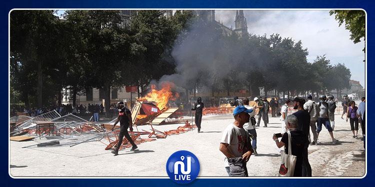 فرنسا: مواجهات عنيفة بين الشرطة ومتظاهرين بمدينة نانت