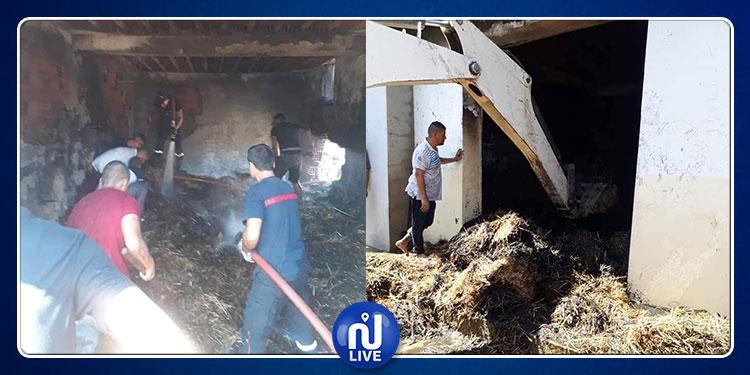 المكنين:  حريق بمخزن تبن ووفاة طفل حرقا