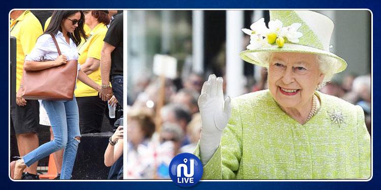 الملكة إليزابيث تحظر على زوجة حفيدها دخول القصر الملكي بالسروايل الممزقة