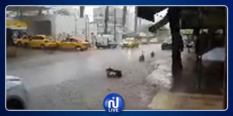 أمطار غزيرة بمدينة بنزرت