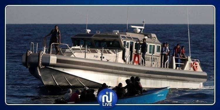 7 émigrés clandestins interceptés au large de Bizerte