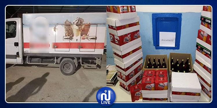 نابل: حجز 400 قارورة خمر في شاحنة معدة لنقل المثلجات