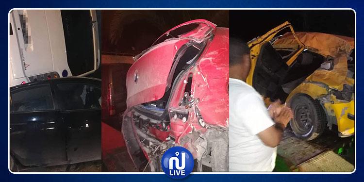 نابل: قتلى وجرحى في اصطدام حافلة بثلاث سيارات (صور)