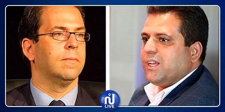 Slim Riahi: ''Je suis derrière la présence de Chahed à la tête du gouvernement''
