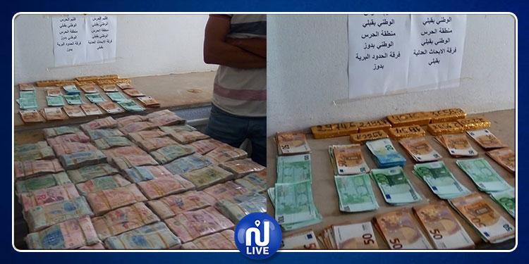 قبلي: حجز 21 كلغ من الذهب وأكثر من 450 ألف دينار بحوزة شاب (صور)