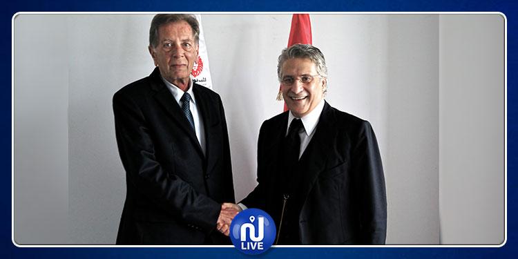 نبيل القروي يستقبل سفير فلسطين بتونس