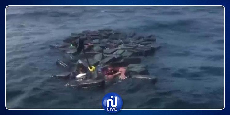 شحنة كوكايين تنقذ مهربيها من الغرق (فيديو)
