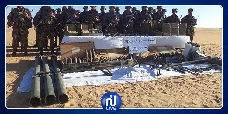 الجيش الجزائري يحجز ترسانة أسلحة قرب الحدود