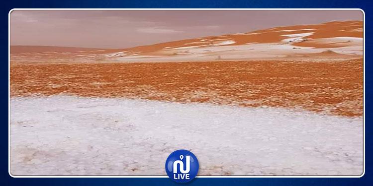 أمطار غزيرة وتبروري بصحراء البرمة (صور)
