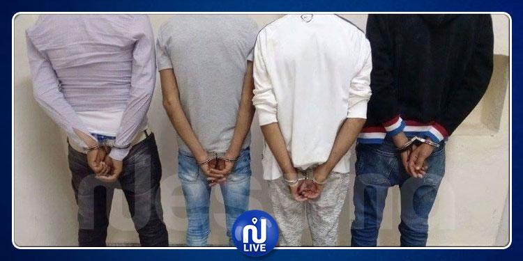 القبض على 4 منحرفين عنفوا شابين في شارع باريس وسلبوا أموالهم وهواتفهم