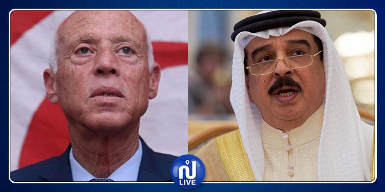 قيس سعيّد يوجه رسالة شكر إلى ملك البحرين