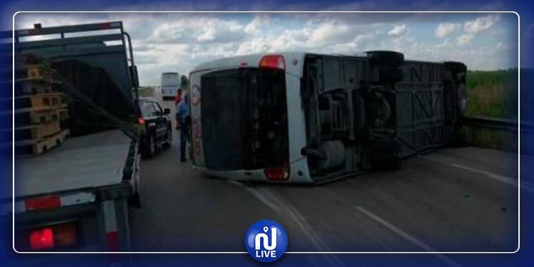 إنقلاب حافلة تقل 39 سائحا روسيا