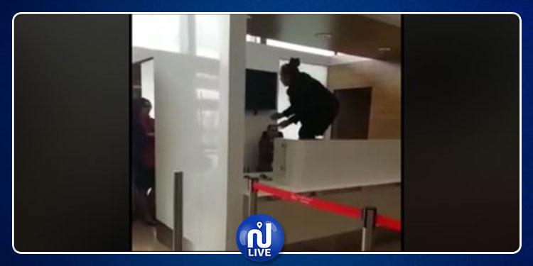 مسافرة تونسية في حالة غضب  تثير الفوضى في مطار أورلي بباريس (فيديو)