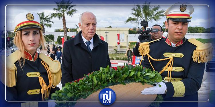 رئيس الجمهورية يحيي ذكرى استشهاد أعوان الأمن الرئاسي (صور)
