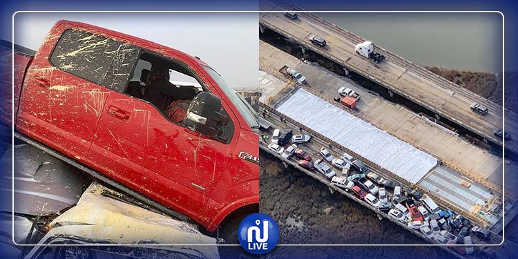 عشرات الإصابات في حادث تصادم 66 سيارة في الولايات المتحدة