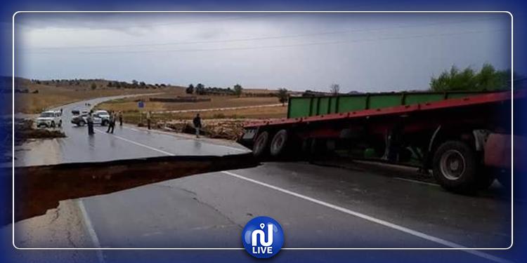 ''انهيار منشأة مائية وانقطاع حركة المرور في تستور'': وزارة التجهيز توضح