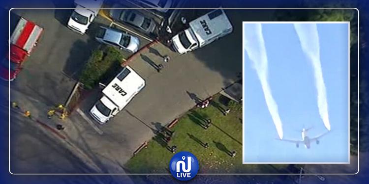 لوس أنجلوس:  إصابة 17 طفلاً جراء تفريغ طائرة نفاثة وقودها على مدرسة