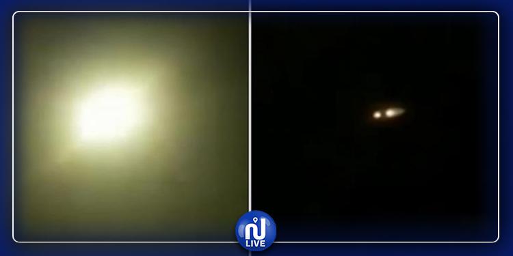 فيديو يظهر إصابة الطائرة الأوكرانية بصاروخ إيراني!
