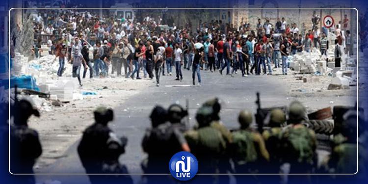 إصابة 7 فلسطينيين في مواجهات مع جيش الاحتلال قرب نابلس