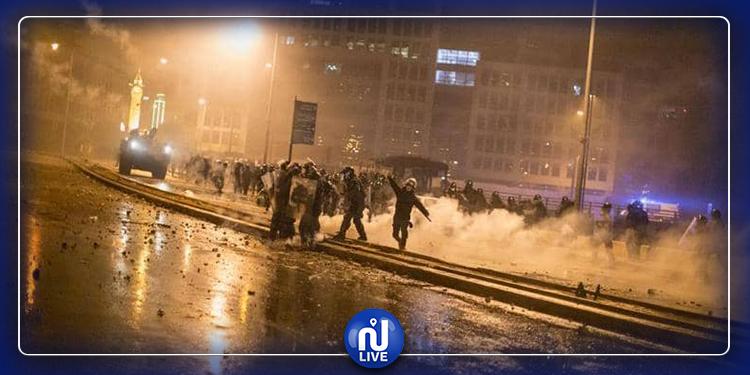 لبنان: عشرات الجرحى في ''ليلة عنيفة'' بين المتظاهرين والأمن