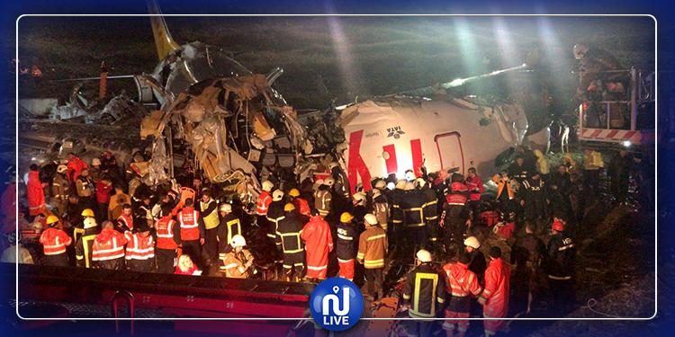 3 قتلى و179 مصابا في حادث طائرة إسطنبول