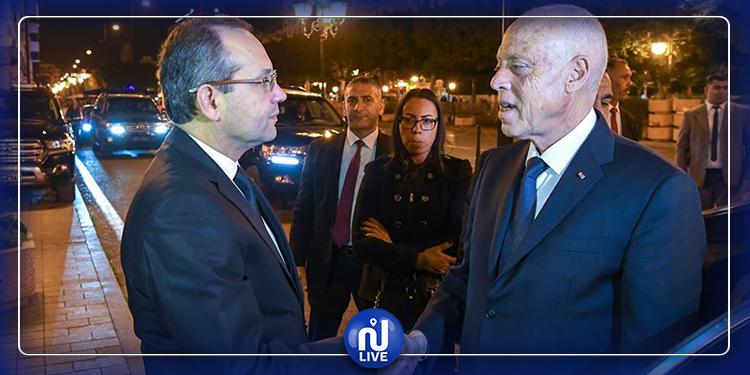 رئيس الجمهورية يؤدي زيارة إلى وزارة الداخلية