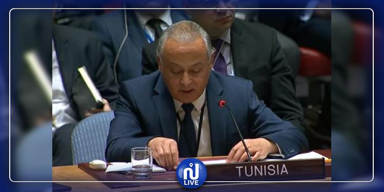 مندوب تونس لدى الأمم المتحدة: إنهاء الاحتلال يعيد الأمن والاستقرار إلى المنطقة