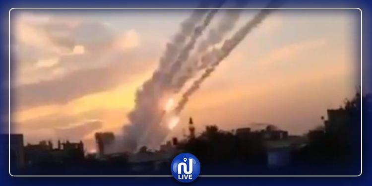 وابل من الصواريخ من قطاع غزة باتجاه المستوطنات