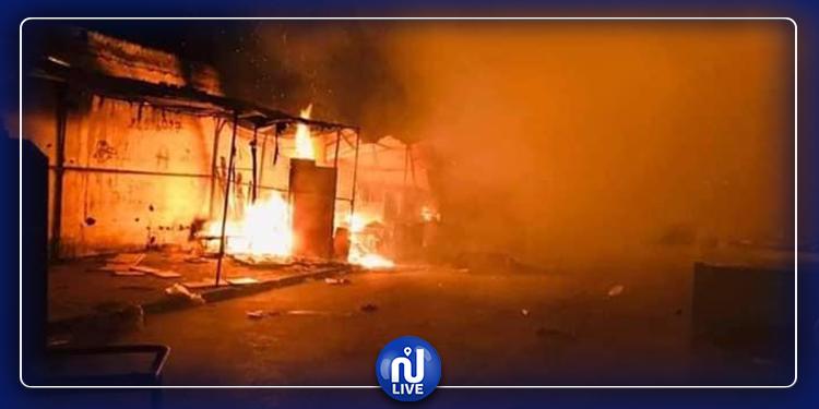 القبض على شاب تعمد حرق سوق الملاسين بسبب زوجته!