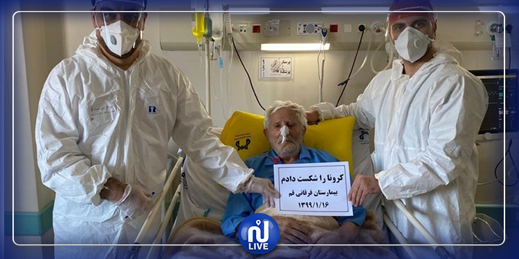 معمر إيراني يتعافى من كورونا