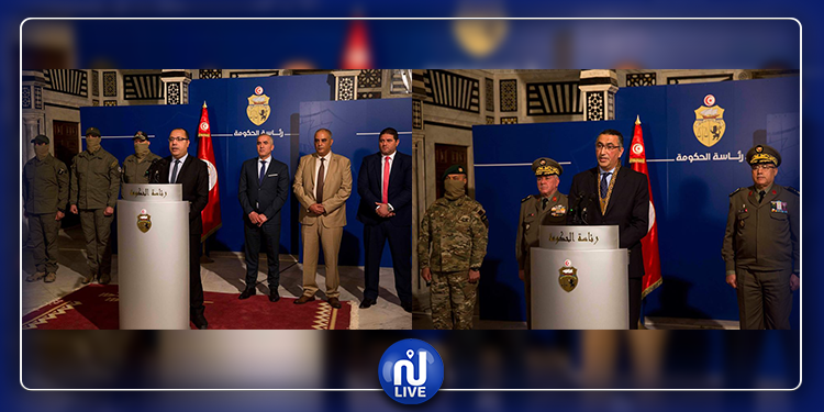 رئيس الحكومة يستقبل القيادات الأمنية والعسكرية التي نفذت العملية الإستباقية بجبال القصرين