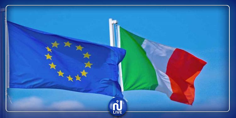 إيطاليون يحرقون علم الاتحاد الأوروبي (فيديو)