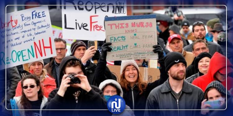Boston : Des manifestations pour mettre fin au confinement