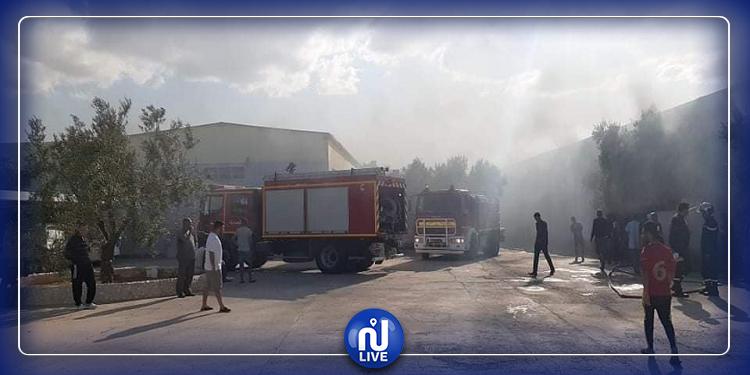 المنستير: حريق ضخم في مصنع القطن بمنزل الحياة