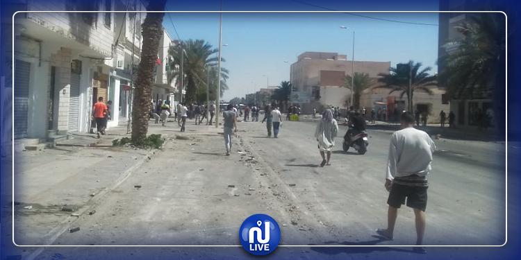 تطاوين: تجدد المواجهات بين المحتجين والأمن