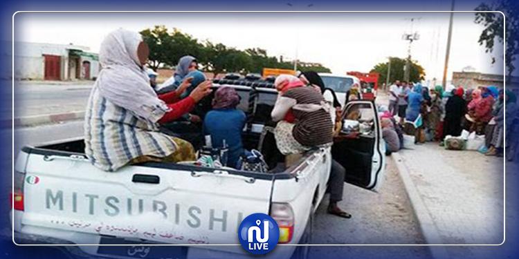 سيدي بوزيد: إصابة عاملات فلاحة في حادث مرور